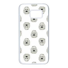 Angry Theater Mask Pattern Samsung Galaxy S7 White Seamless Case by dflcprints
