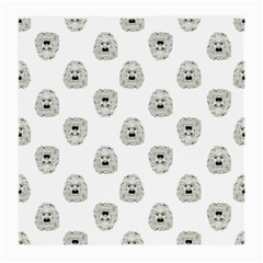 Angry Theater Mask Pattern Medium Glasses Cloth (2 Side) by dflcprints