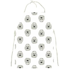 Angry Theater Mask Pattern Full Print Aprons by dflcprints