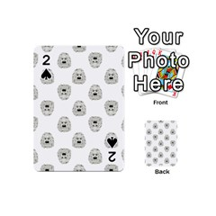 Angry Theater Mask Pattern Playing Cards 54 (mini)  by dflcprints