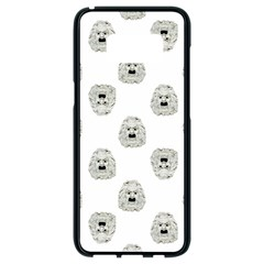 Angry Theater Mask Pattern Samsung Galaxy S8 Black Seamless Case by dflcprints
