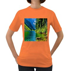 Beautiful Nature Lake Women s Dark T Shirt by Modern2018