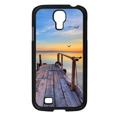 Sunset Lake Beautiful Nature Samsung Galaxy S4 I9500/ I9505 Case (black) by Modern2018