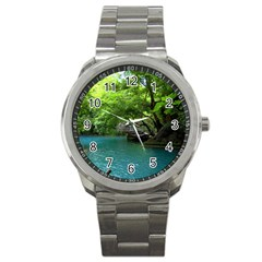 Backgrounds List Of Lake Background Beautiful Waterfalls Nature Sport Metal Watch by Modern2018