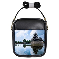 Beautiful Pagoda On Lake Nature Wallpaper Girls Sling Bags by Modern2018