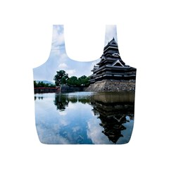 Beautiful Pagoda On Lake Nature Wallpaper Full Print Recycle Bags (s)  by Modern2018