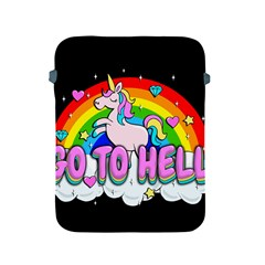 Go To Hell   Unicorn Apple Ipad 2/3/4 Protective Soft Cases by Valentinaart