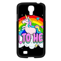 Go To Hell   Unicorn Samsung Galaxy S4 I9500/ I9505 Case (black) by Valentinaart