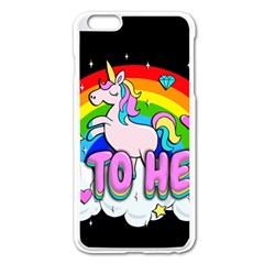 Go To Hell   Unicorn Apple Iphone 6 Plus/6s Plus Enamel White Case by Valentinaart
