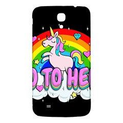 Go To Hell   Unicorn Samsung Galaxy Mega I9200 Hardshell Back Case by Valentinaart