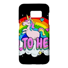 Go To Hell   Unicorn Samsung Galaxy S7 Hardshell Case  by Valentinaart