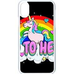 Go To Hell   Unicorn Apple Iphone X Seamless Case (white) by Valentinaart