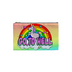 Go To Hell   Unicorn Cosmetic Bag (small)