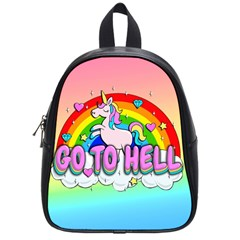 Go To Hell   Unicorn School Bag (small)