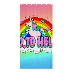 Go To Hell   Unicorn Shower Curtain 36  X 72  (stall)  by Valentinaart