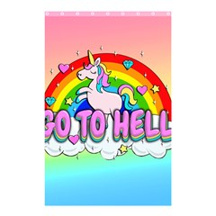 Go To Hell   Unicorn Shower Curtain 48  X 72  (small)  by Valentinaart