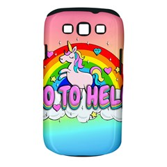 Go To Hell   Unicorn Samsung Galaxy S Iii Classic Hardshell Case (pc+silicone)