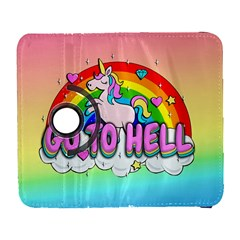 Go To Hell   Unicorn Galaxy S3 (flip/folio) by Valentinaart
