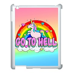 Go To Hell   Unicorn Apple Ipad 3/4 Case (white) by Valentinaart