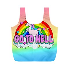 Go To Hell   Unicorn Full Print Recycle Bags (m)