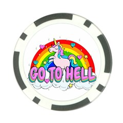 Go To Hell   Unicorn Poker Chip Card Guard (10 Pack) by Valentinaart