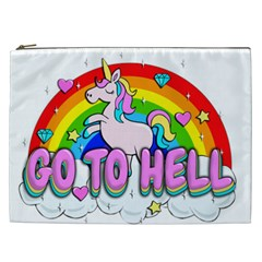 Go To Hell   Unicorn Cosmetic Bag (xxl)