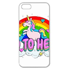 Go To Hell   Unicorn Apple Seamless Iphone 5 Case (clear) by Valentinaart