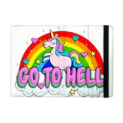 Go To Hell   Unicorn Apple Ipad Mini Flip Case by Valentinaart