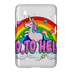 Go To Hell   Unicorn Samsung Galaxy Tab 2 (7 ) P3100 Hardshell Case  by Valentinaart