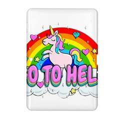 Go To Hell   Unicorn Samsung Galaxy Tab 2 (10 1 ) P5100 Hardshell Case  by Valentinaart