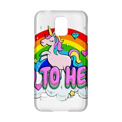 Go To Hell   Unicorn Samsung Galaxy S5 Hardshell Case  by Valentinaart