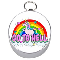 Go To Hell   Unicorn Silver Compasses by Valentinaart