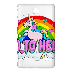 Go To Hell   Unicorn Samsung Galaxy Tab 4 (7 ) Hardshell Case  by Valentinaart
