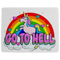 Go To Hell   Unicorn Jigsaw Puzzle Photo Stand (rectangular) by Valentinaart