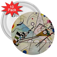Composition 8   Vasily Kandinsky 3  Buttons (10 Pack)  by Valentinaart