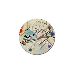Composition 8   Vasily Kandinsky Golf Ball Marker by Valentinaart