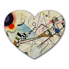 Composition 8   Vasily Kandinsky Heart Mousepads by Valentinaart