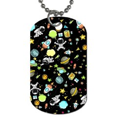 Space Pattern Dog Tag (two Sides) by Valentinaart