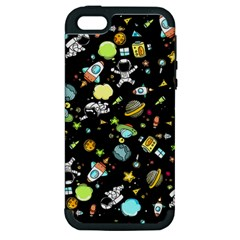 Space Pattern Apple Iphone 5 Hardshell Case (pc+silicone) by Valentinaart