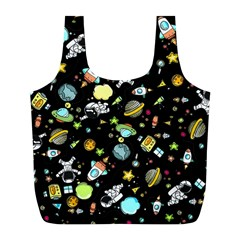 Space Pattern Full Print Recycle Bags (l)