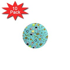 Space Pattern 1  Mini Magnet (10 Pack)  by Valentinaart