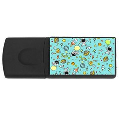 Space Pattern Rectangular Usb Flash Drive by Valentinaart