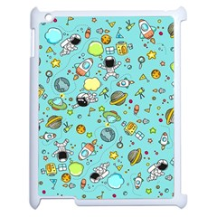 Space Pattern Apple Ipad 2 Case (white) by Valentinaart