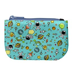 Space Pattern Large Coin Purse by Valentinaart