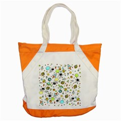Space Pattern Accent Tote Bag by Valentinaart