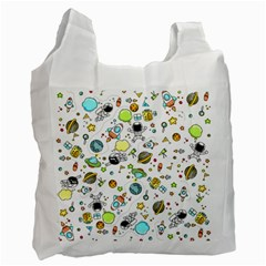 Space Pattern Recycle Bag (one Side) by Valentinaart