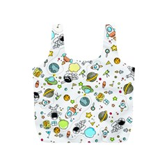 Space Pattern Full Print Recycle Bags (s)  by Valentinaart