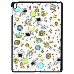 Space Pattern Apple Ipad Pro 9 7   Black Seamless Case