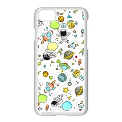 Space Pattern Apple Iphone 8 Seamless Case (white) by Valentinaart