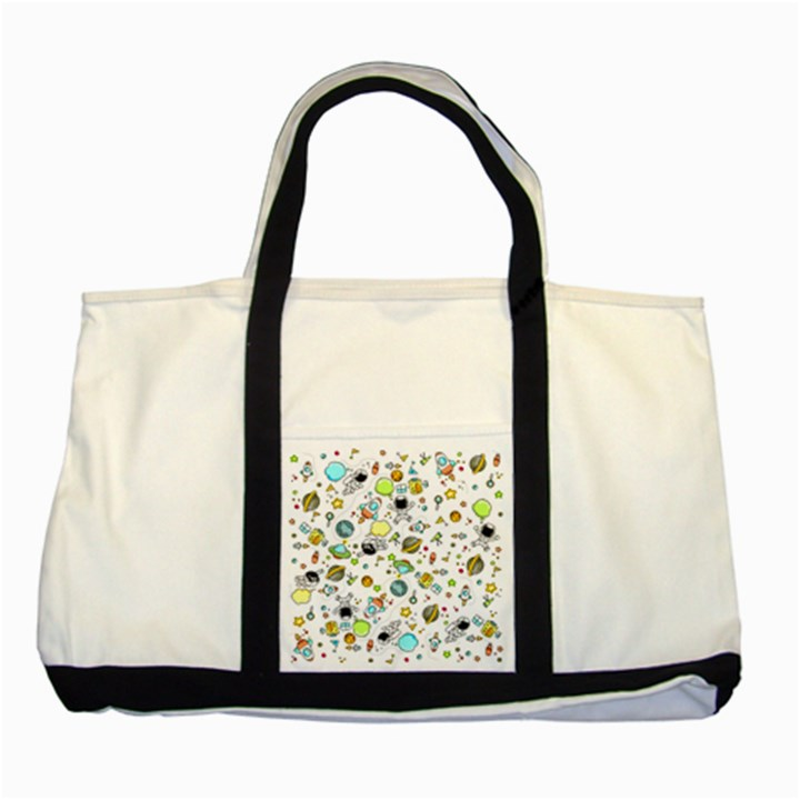 Space Pattern Two Tone Tote Bag